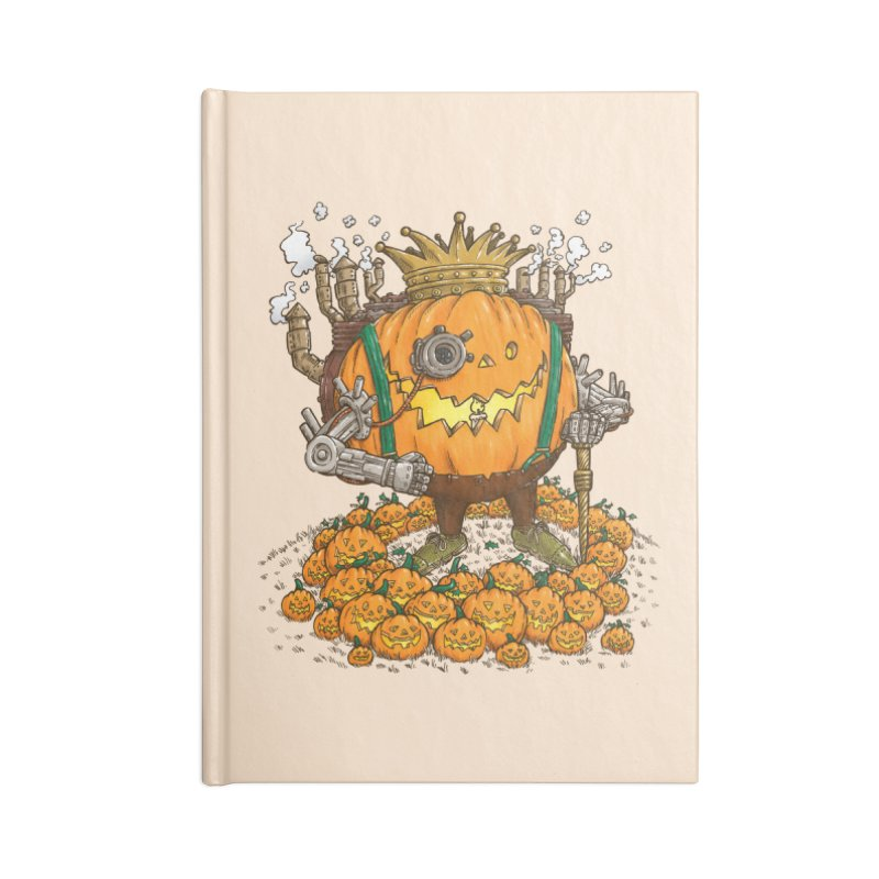 The Steampunk Pumpking Accessories Notebook by nickv47