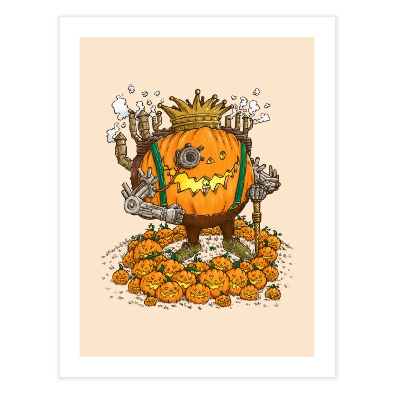 The Steampunk Pumpking Home Fine Art Print by nickv47