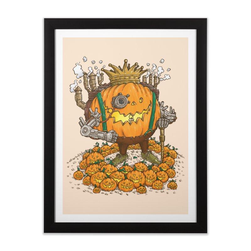 The Steampunk Pumpking Home Framed Fine Art Print by nickv47