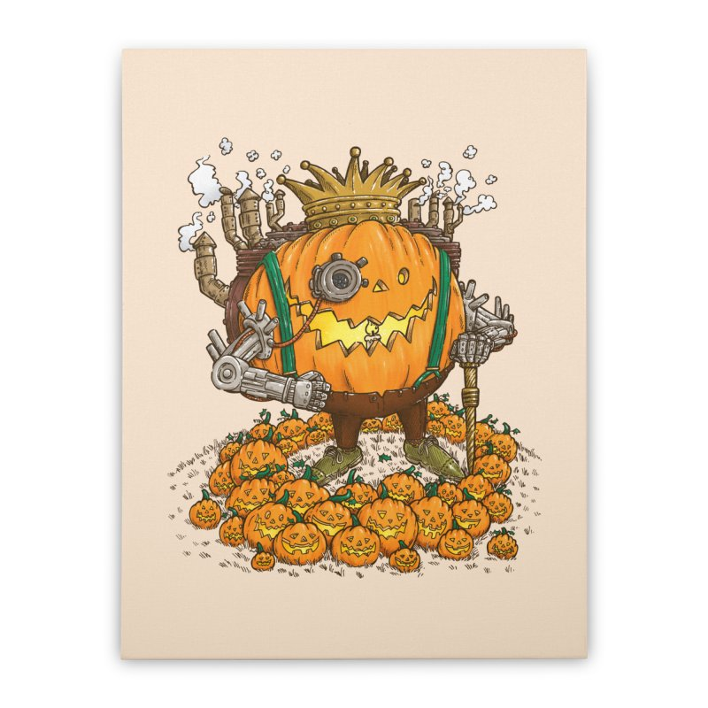 The Steampunk Pumpking Home Stretched Canvas by nickv47