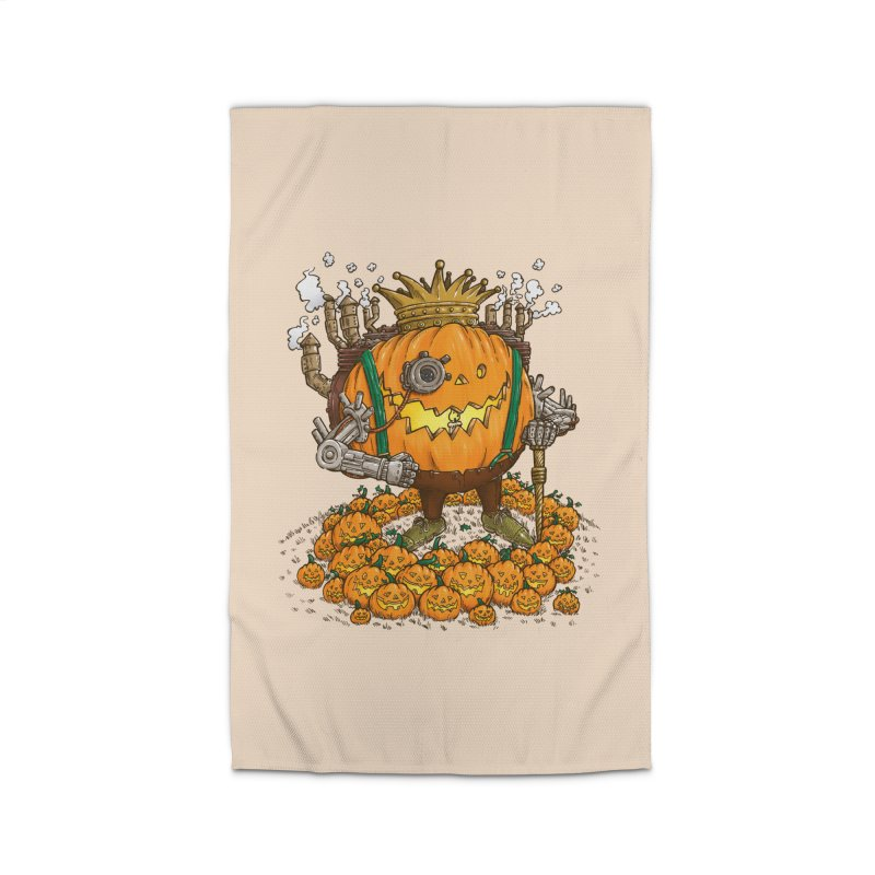 The Steampunk Pumpking Home Rug by nickv47