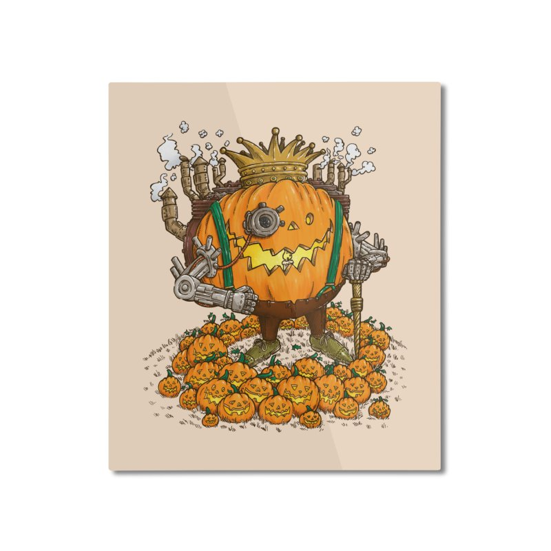 The Steampunk Pumpking Home Mounted Aluminum Print by nickv47