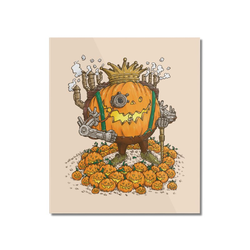 The Steampunk Pumpking Home Mounted Acrylic Print by nickv47