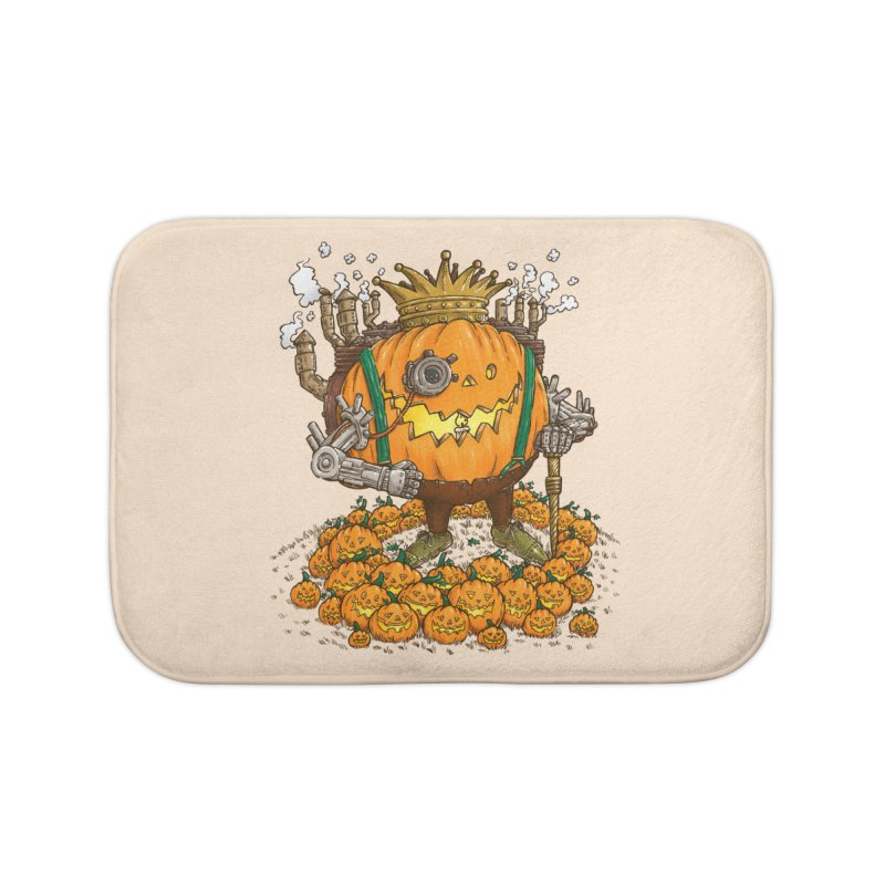 The Steampunk Pumpking Home Bath Mat by nickv47