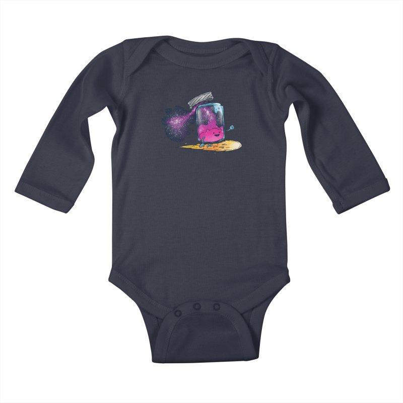 The Cosmic Jam Kids Baby Longsleeve Bodysuit by nickv47