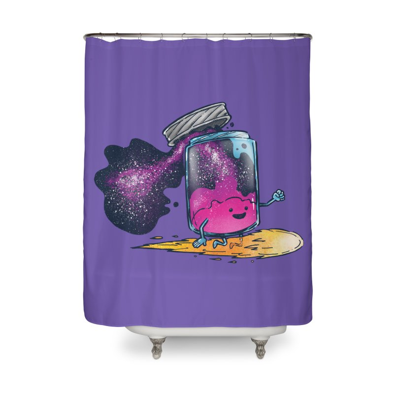 The Cosmic Jam Home Shower Curtain by nickv47