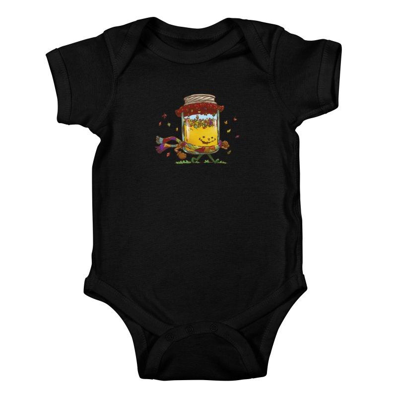 Fall Jam Kids Baby Bodysuit by nickv47