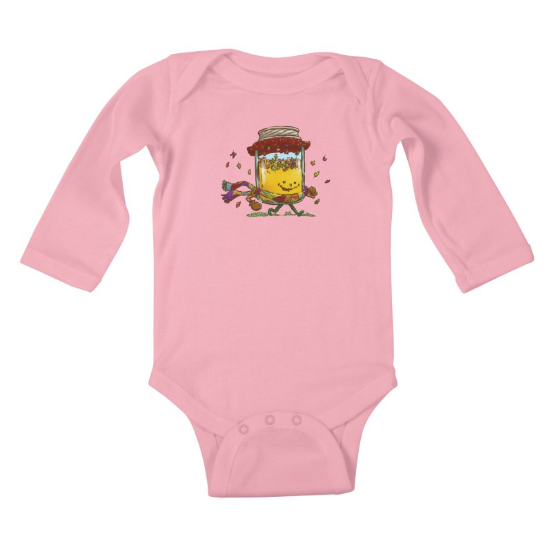 Fall Jam Kids Baby Longsleeve Bodysuit by nickv47