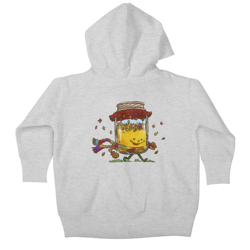 Fall Jam Kids Baby Zip-Up Hoody by nickv47