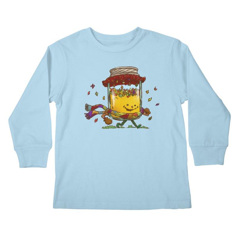 Fall Jam Kids Longsleeve T-Shirt by nickv47