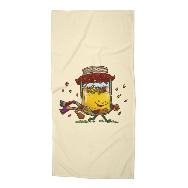Fall Jam Accessories Beach Towel by nickv47