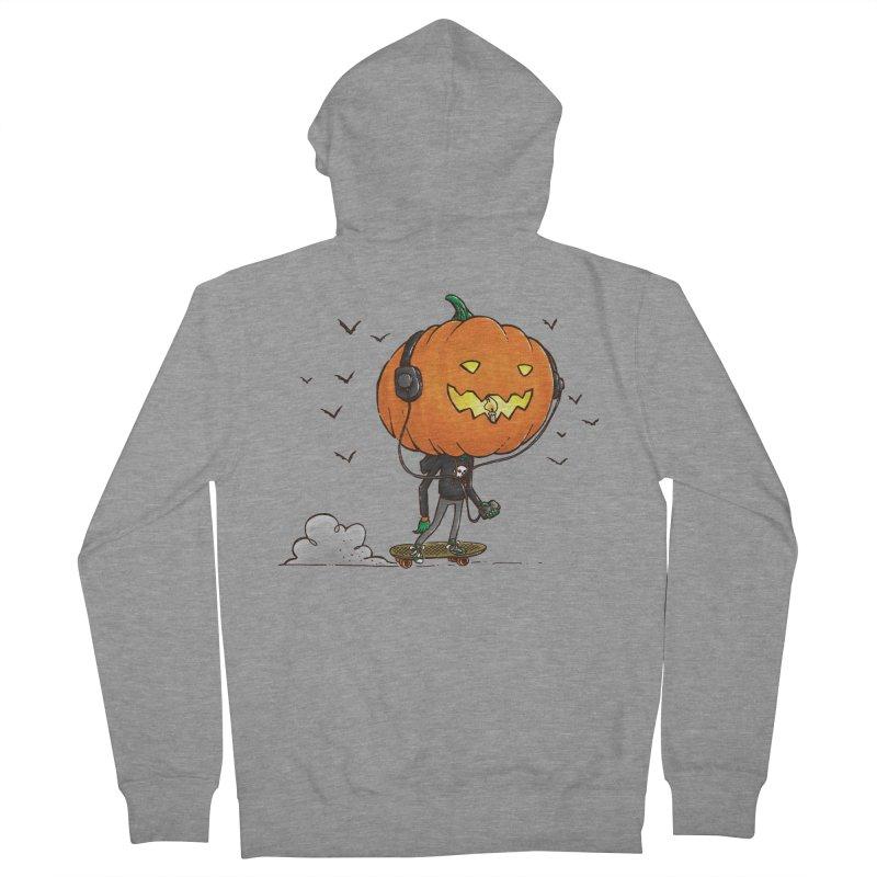 The Pumpkin Skater Women's Zip-Up Hoody by nickv47