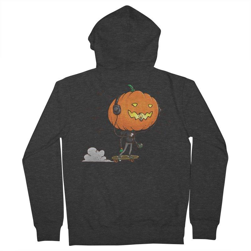 The Pumpkin Skater Men's Zip-Up Hoody by nickv47