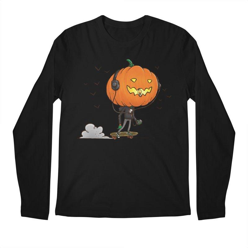 The Pumpkin Skater Men's Longsleeve T-Shirt by nickv47