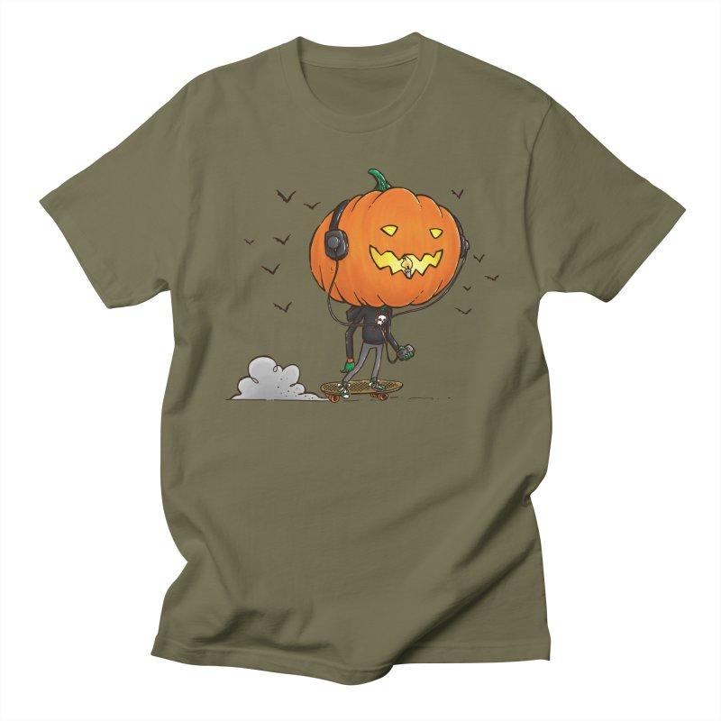 The Pumpkin Skater Men's T-Shirt by nickv47