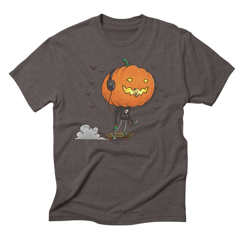 The Pumpkin Skater Men's Triblend T-Shirt by nickv47