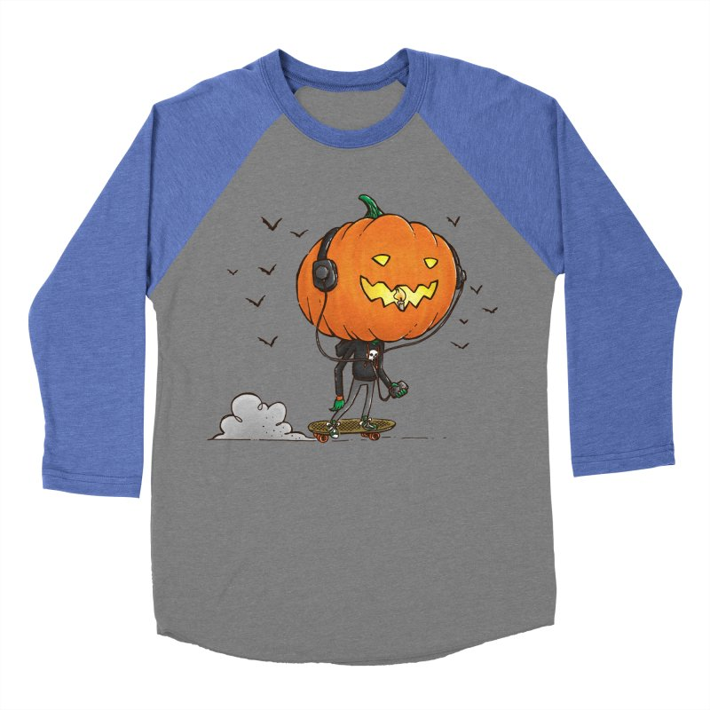 The Pumpkin Skater Men's Baseball Triblend T-Shirt by nickv47