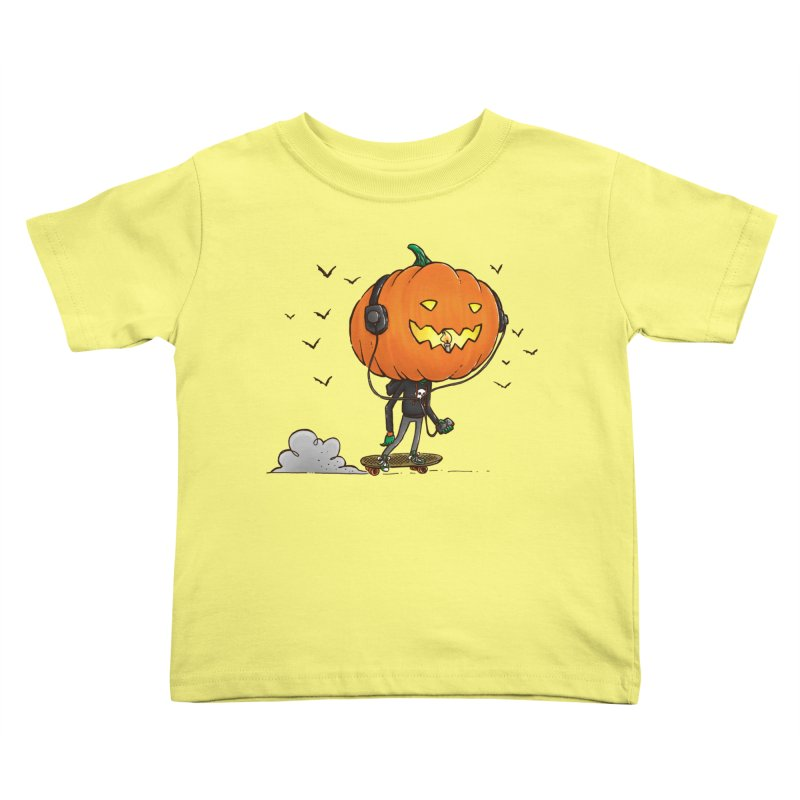 The Pumpkin Skater Kids Toddler T-Shirt by nickv47
