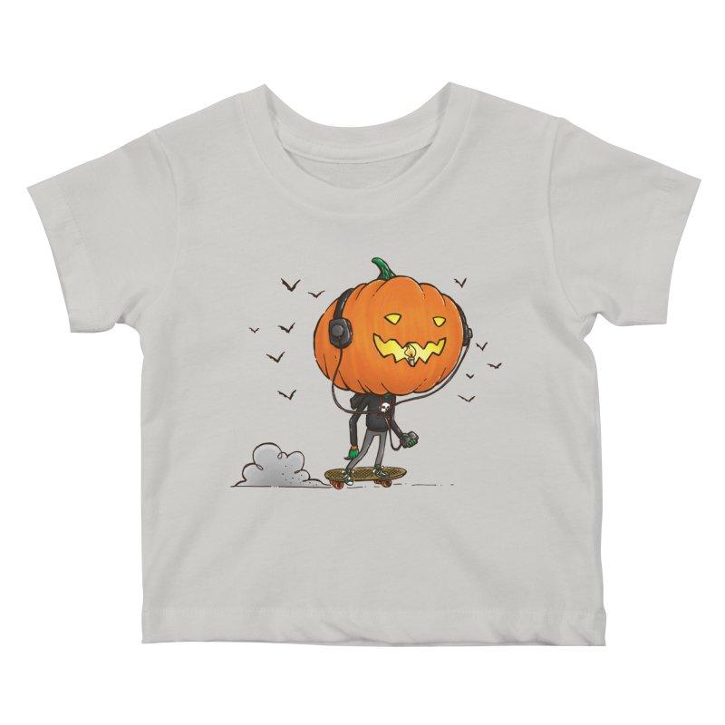 The Pumpkin Skater Kids Baby T-Shirt by nickv47