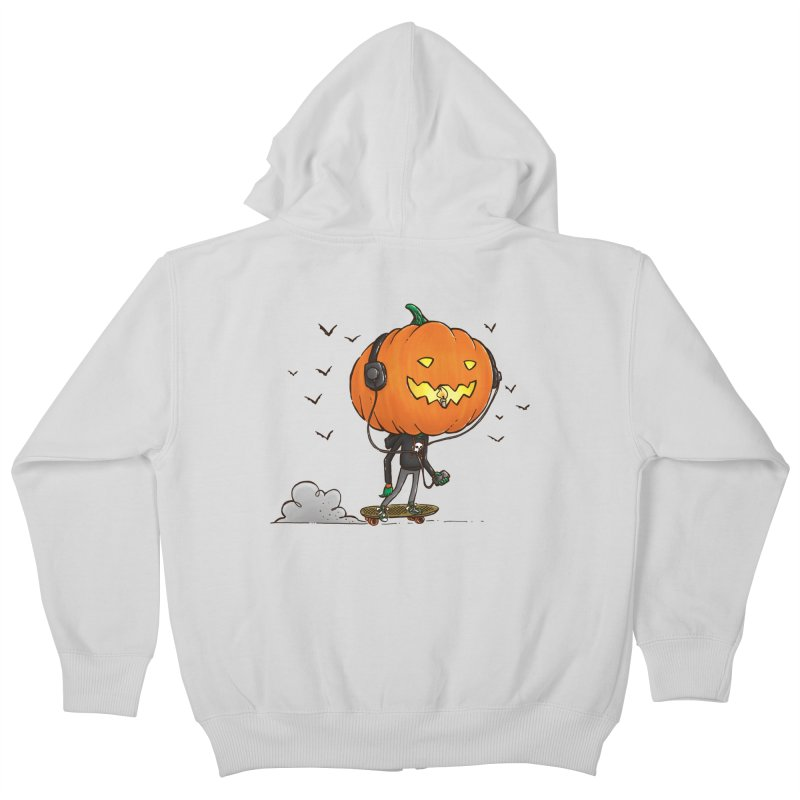 The Pumpkin Skater Kids Zip-Up Hoody by nickv47