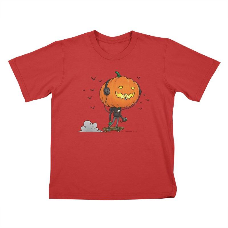 The Pumpkin Skater Kids T-shirt by nickv47