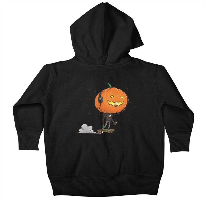 The Pumpkin Skater Kids Baby Zip-Up Hoody by nickv47