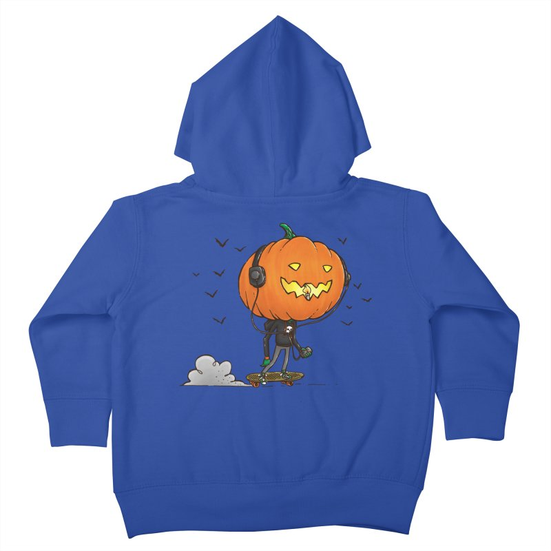 The Pumpkin Skater Kids Toddler Zip-Up Hoody by nickv47