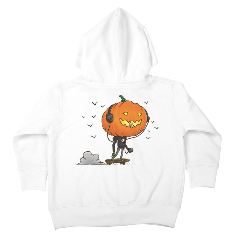 The Pumpkin Skater Kids Toddler Zip-Up Hoody by nickv47