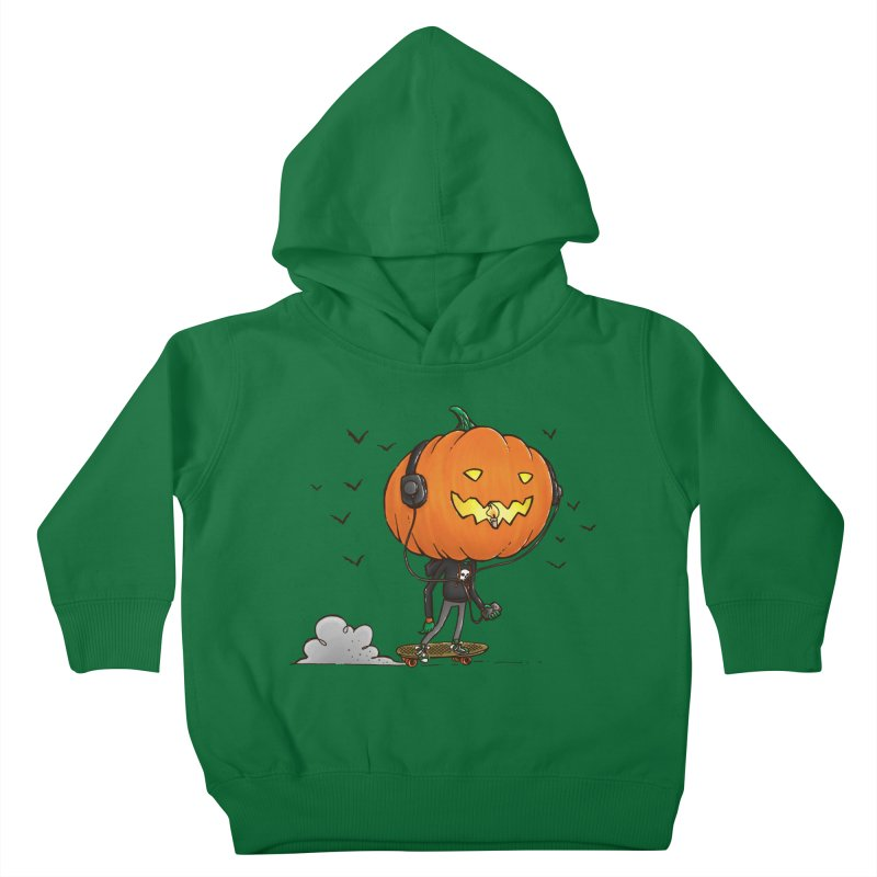 The Pumpkin Skater Kids Toddler Pullover Hoody by nickv47