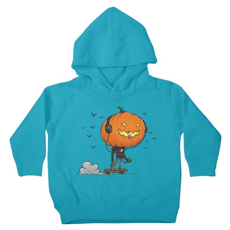 The Pumpkin Skater Kids Toddler Pullover Hoody by nickv47