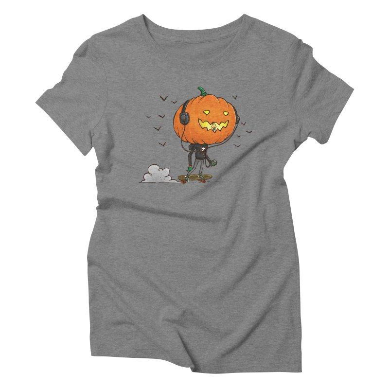 The Pumpkin Skater Women's Triblend T-Shirt by nickv47