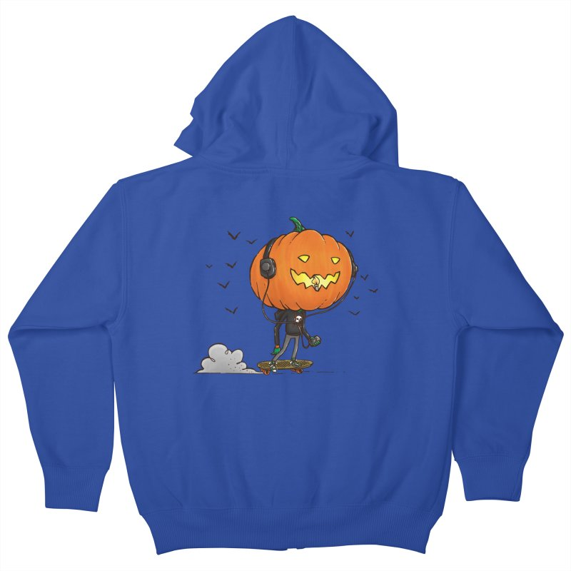 The Pumpkin Skater Kids Zip-Up Hoody by nickv47