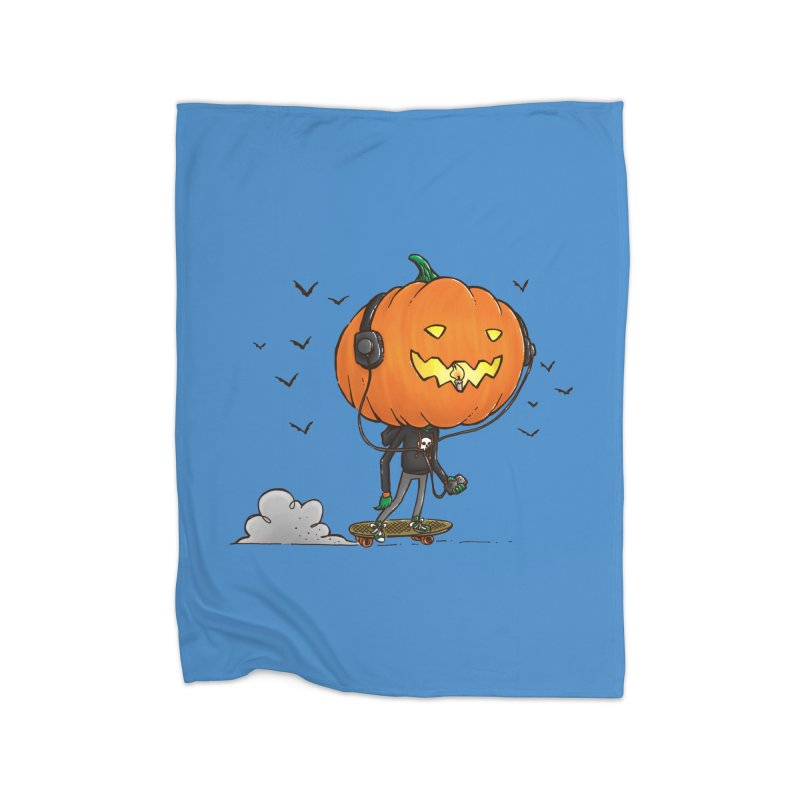 The Pumpkin Skater Home Blanket by nickv47