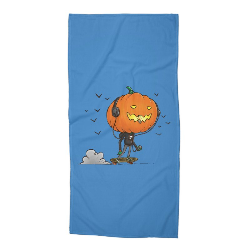 The Pumpkin Skater Accessories Beach Towel by nickv47