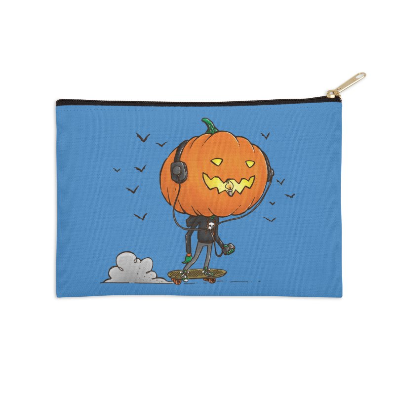 The Pumpkin Skater Accessories Zip Pouch by nickv47
