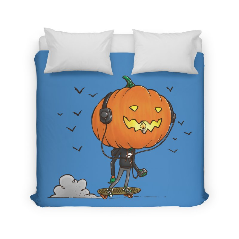 The Pumpkin Skater Home Duvet by nickv47
