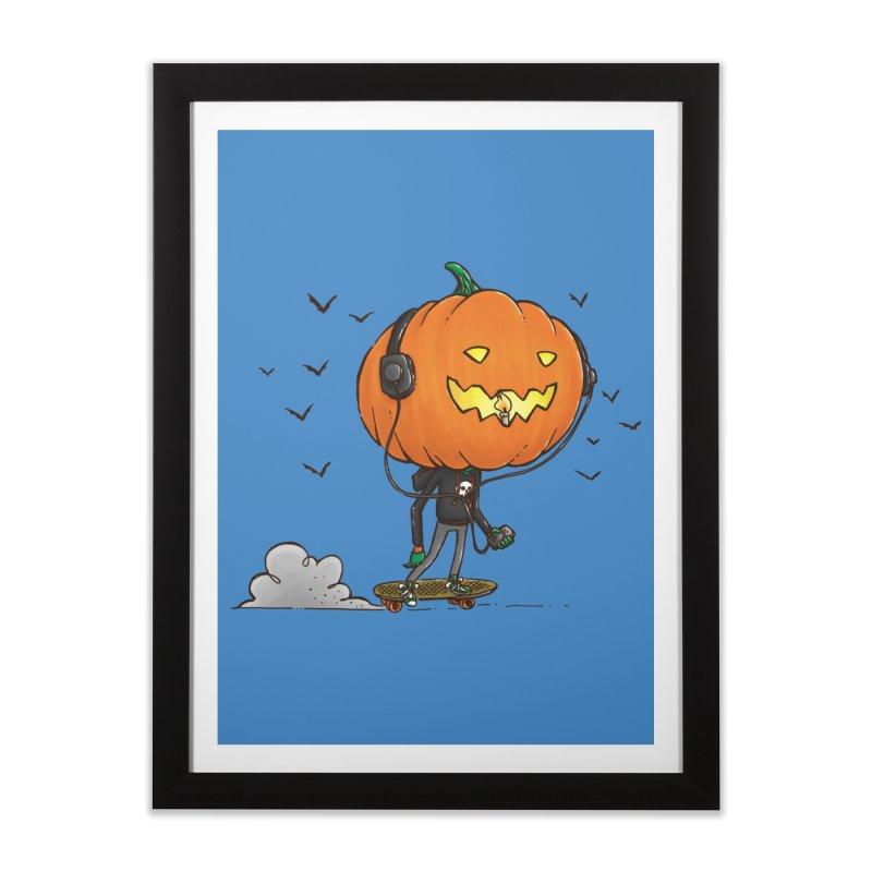 The Pumpkin Skater Home Framed Fine Art Print by nickv47
