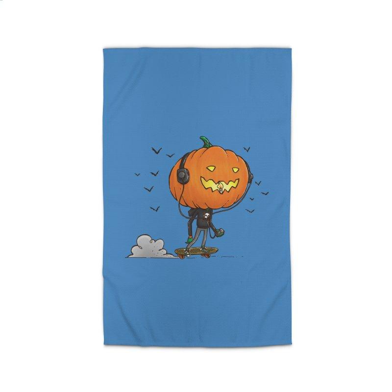 The Pumpkin Skater Home Rug by nickv47