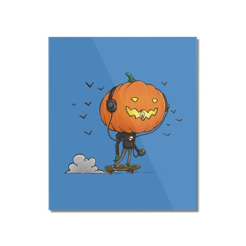 The Pumpkin Skater Home Mounted Acrylic Print by nickv47