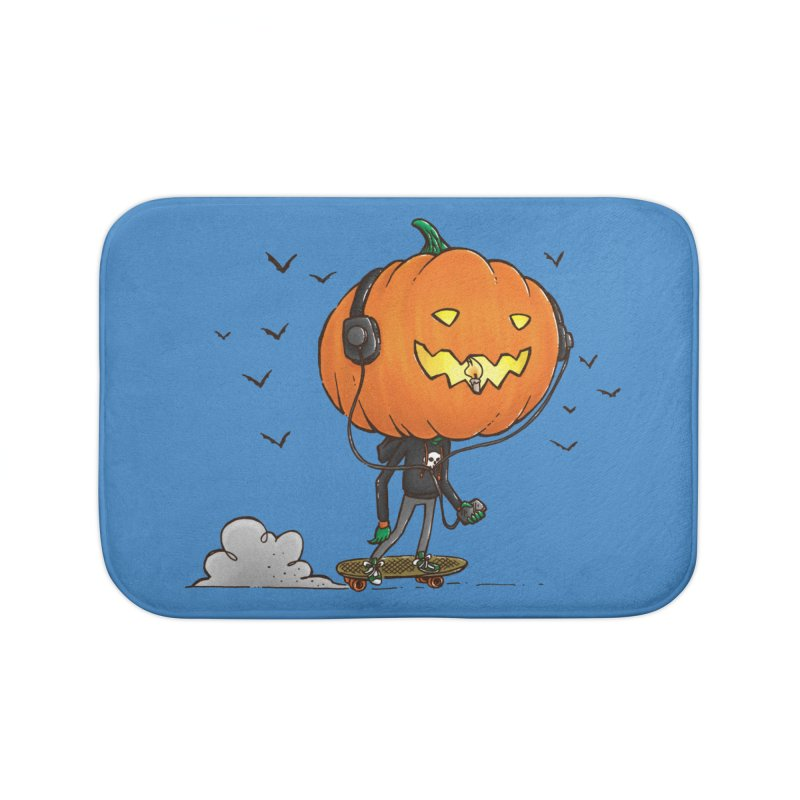 The Pumpkin Skater Home Bath Mat by nickv47