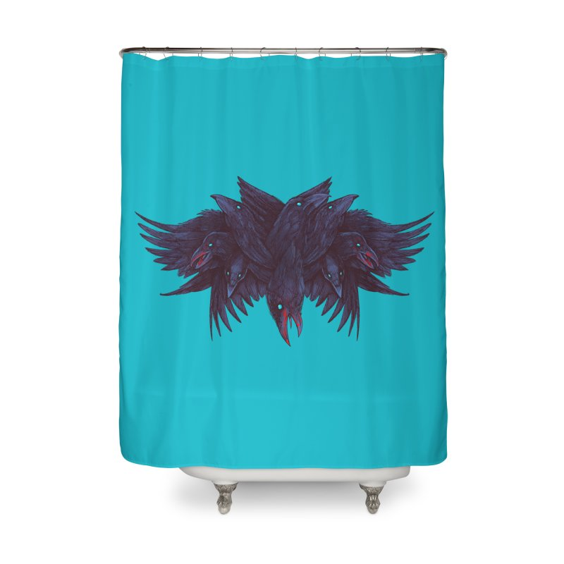 Crowberus Reborn Home Shower Curtain by nickv47