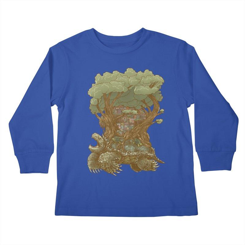 Atlas Reborn Kids Longsleeve T-Shirt by nickv47