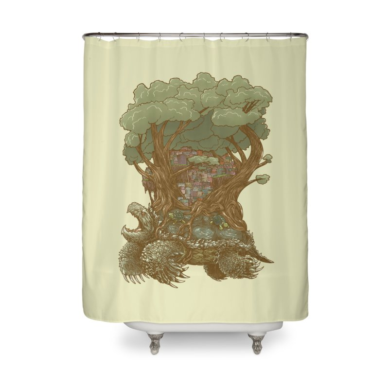 Atlas Reborn Home Shower Curtain by nickv47