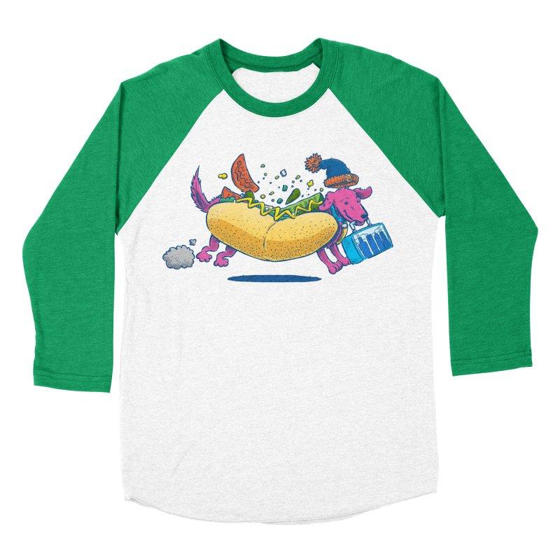 Chicago Dog: Lunch Pail Women's Baseball Triblend T-Shirt by nickv47