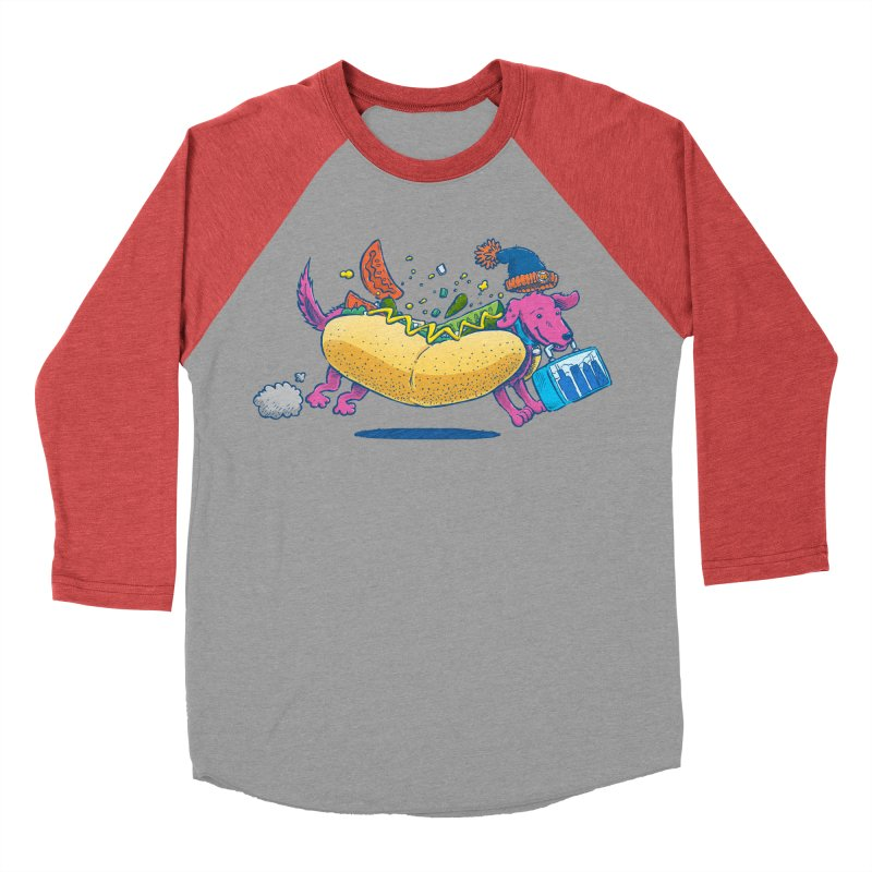 Chicago Dog: Lunch Pail Women's Baseball Triblend T-Shirt by nickv47