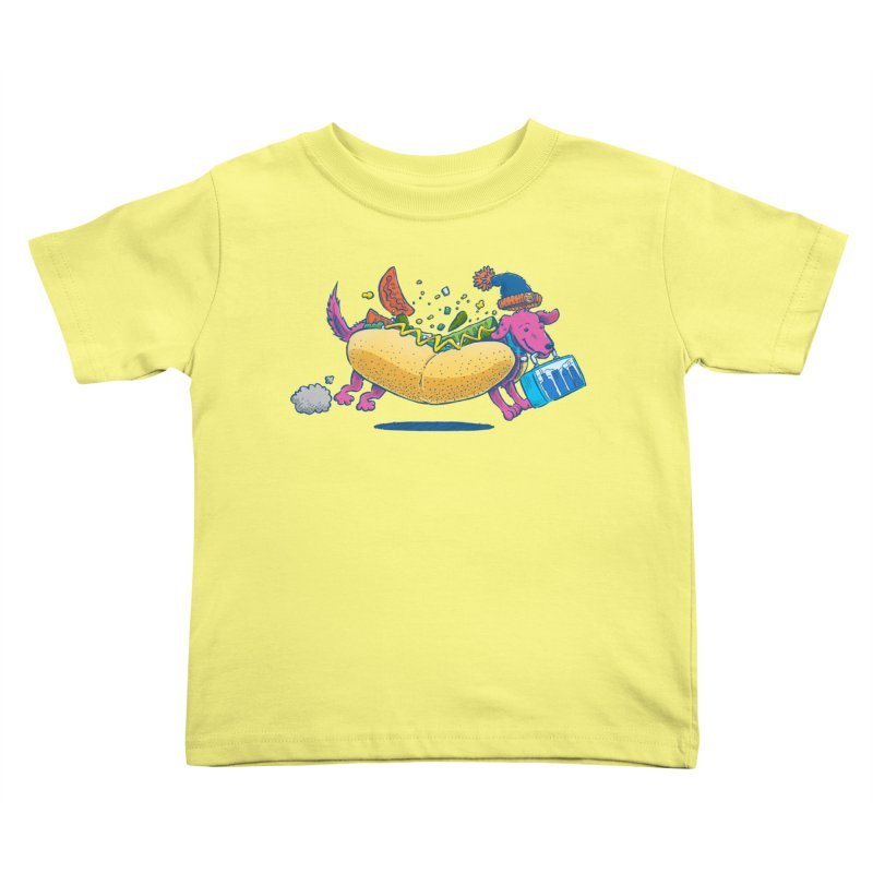 Chicago Dog: Lunch Pail Kids Toddler T-Shirt by nickv47
