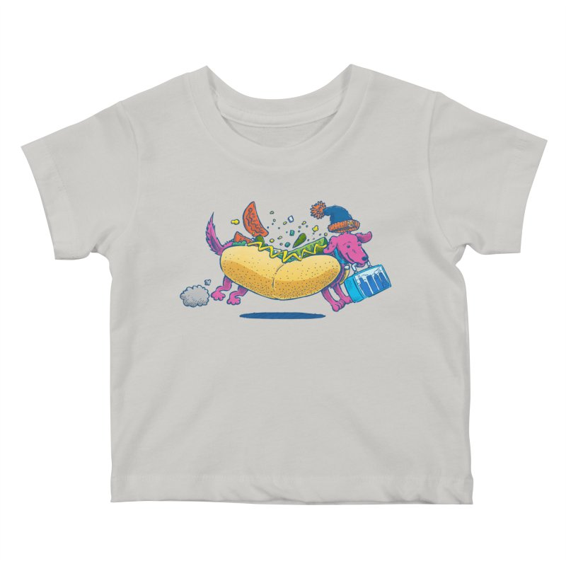 Chicago Dog: Lunch Pail Kids Baby T-Shirt by nickv47