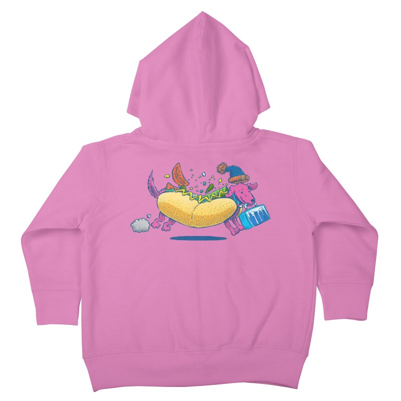 Chicago Dog: Lunch Pail Kids Toddler Zip-Up Hoody by nickv47