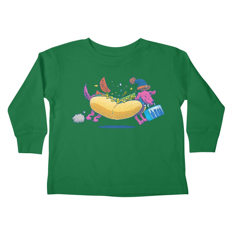 Chicago Dog: Lunch Pail Kids Toddler Longsleeve T-Shirt by nickv47