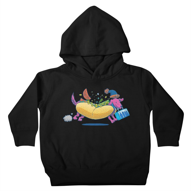 Chicago Dog: Lunch Pail Kids Toddler Pullover Hoody by nickv47